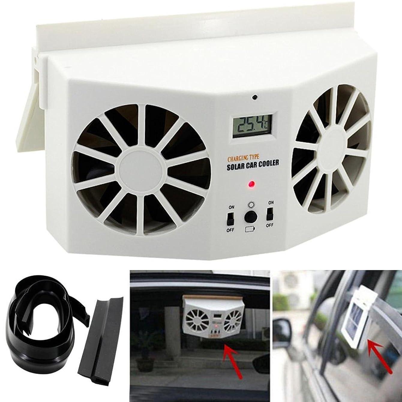 WensLTD 2017 HOT NEW Solar Powered Car Window Air Vent Ventilator Mini Air Conditioner Cool Fan (White)