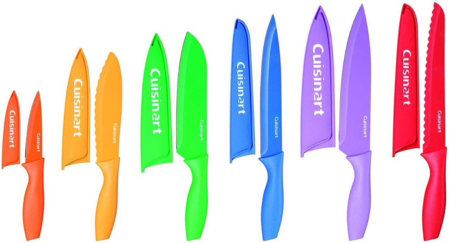 Cuisinart C55 01 12PCKS Cuisinart Advantage 12 Piece Color Coded Professional Stainless Steel Knives