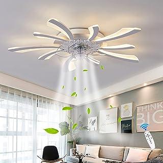 Ventilateurs De Plafond LED Éclairage Avec Télécommande Plafonnier 50W Moderne Dimmable Acrylique Lampe Suspendue Ventilat...