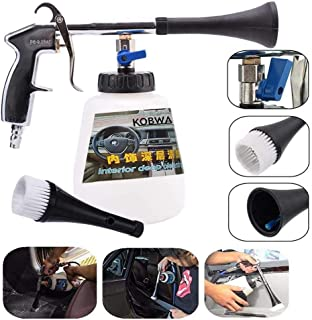 KOBWA Car Cleaning Gun, Car Interior Washing Gun Air Pulse Equipment High Pressure with Cleaning Nozzle Sprayer Foam Bottle Surface Interior Exterior Tornado Tool