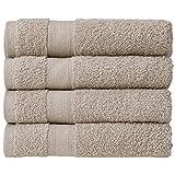 nottoc Toallas de rizo de color beige, 4 piezas, juego de toallas de mano de 50...