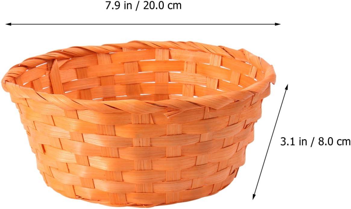 Orange BESPORTBLE 1 St/ück Bambus Gewebter Korb Runder Korb Brot Servierkorb f/ür Osterkindertag
