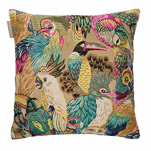 MADURA - Housse de Coussin JUNGLE BIRDS - Taille 40x40 cm - Couleur multicouleur