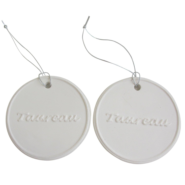 アロマストーン ホワイトコイン2セット(レター2)アクセサリー 小物 キーホルダー アロマディフューザー ペンダント 陶器製