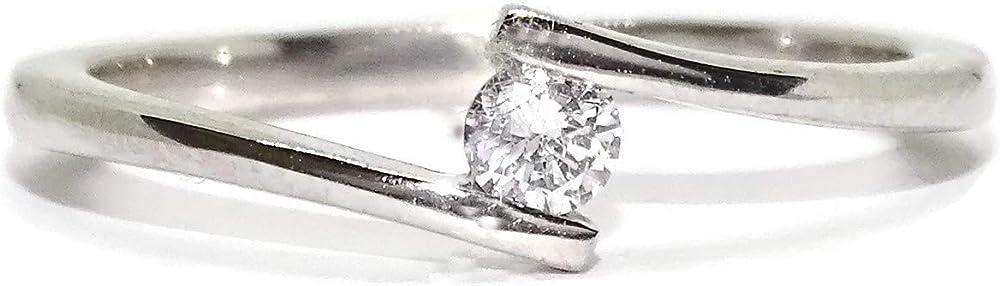 Never say never  anello per donna in oro bianco 18k e un un diamante di 0,11 99712742