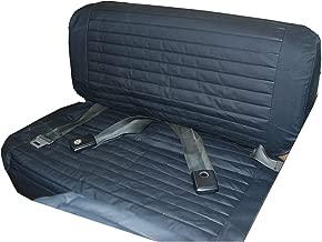 Bestop 29223-15 Black Denim Rear Fold-N-Tumble Bench Seat Cover for 1965-1995 CJ5, CJ7 & Wrangler YJ