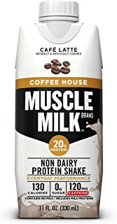 Muscle Milk Coffee House Protein Shake, Café Latte, 11 FL OZ, 12 Count