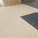 Steinteppich Set Dunkelgrau Bindemittel Epoxidharz - Grigio Carnico 25kg plus Epoxid Bindemittel, bis 2,5qm - 7