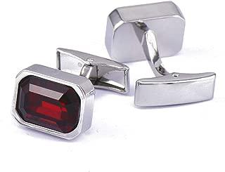 Aooaz Cufflinks Studs Irregular Crystal Cufflinks Personalized Red