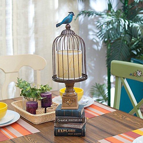 Modeen American Résine Livre Table Lampe Créativité Continental Iron Bird Lanterne Bureau Lumière Chambre Chevet Lampe de Table E27 Décoration Table Lumière