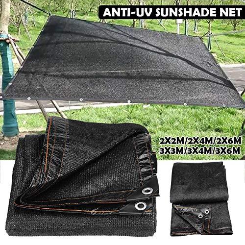 Zonnescherm zeil zwart zonnescherm netto luifel buiten tuin zonnescherm doek terrasoverkapping uv-bescherming autohoes 2m / 4m / 5m / 6m,2×4M