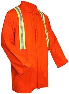 Magid Glove & Safety JOS1035OR-XL FR Molten Splash-Resistant Jacket with Striping, X-Large, Orange