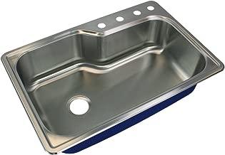 Single Basin Drop In Kitchen Sink