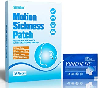 Sumifun 36Pcs/1 Box Motion Sickness Patches Non-Drowsy, Anti-Nausea & Relief Vomiting Nausea Dizziness Chinese Herbal Plas...