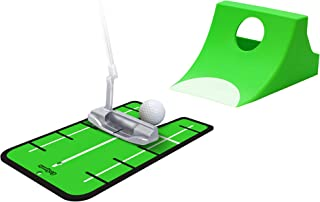 Puttster Golf Putting Training System by GoSports - Perfect Your Short Putts with Ramp Return System, Use Indoors or Outdoors