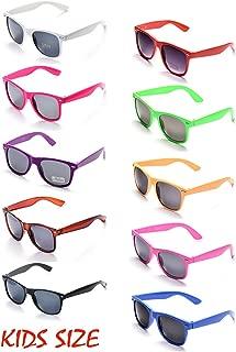 10 Neon Colors Unisex Wholesale Sunglasses for Kids Party Favor Supplies