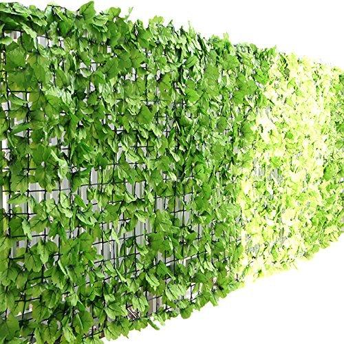 ottostyle.jp グリーンフェンス 緑のカーテン 約2m×1m 【ライトグリーン】 ソフトネットタイプ 目隠し リーフフェンス フェイクグリーン 日よけ サンシェード