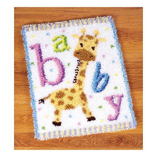 Kit tapis au point noué Bébé girafe II
