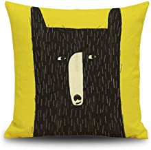 Cartoon Animal Cotton Linen Throw Pillow Cover Home Decorative Insert not Include G01