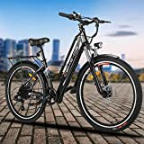 Electric Bike for Adults, 26'' City E-bike Cruiser, 250W Brushless Motor, 36V/8A Battery, 7-Speeds,...