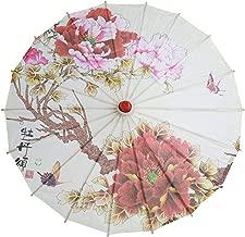 A Femme Ombrelle Chinoise Fait /à La Main Rameng Parasol Parapluie Danse D/écoration de Mariage Mari/ée