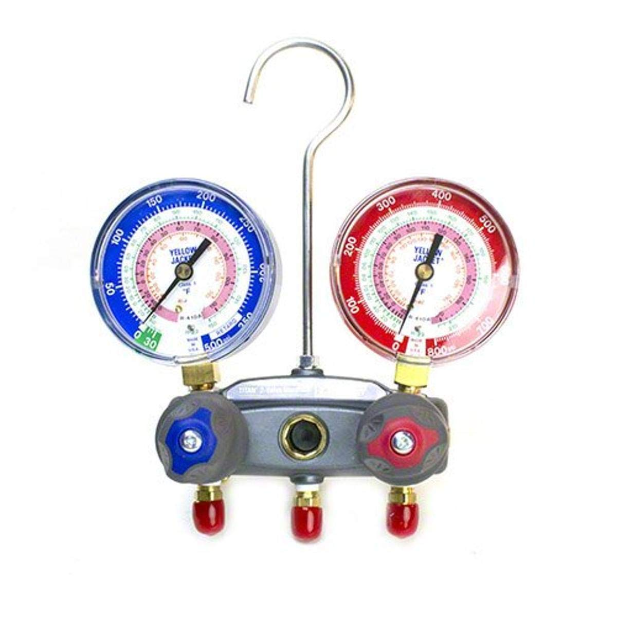 Yellow Jacket 49863 Manifold with Red R- Blue SALENEW very popular! Gorgeous psi Scale Gauges