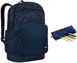 Query Mochila 29L (diferentes compartimentos para dossieres, electrónicas y accesorios, diseño ergonomico, transporte cómodo), Azul/Floral