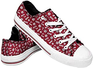 FOCO Womens NCAA College Low Top Repeat Print Canvas Sneaker Shoes