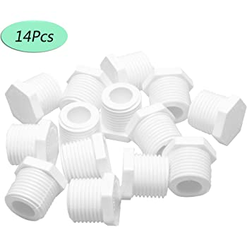 """Febrytold 14Pcs Water Heater Drain Plug 1/2"""" 11630 91857 White Plastic Drain Plug Kit Fit for Atwood and RV Camper Water Heaters"""