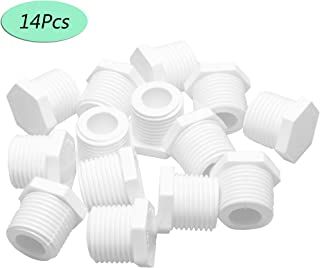 "Febrytold 14Pcs Water Heater Drain Plug 1/2"" 11630 91857 White Plastic Drain Plug Kit Fit for Atwood and RV Camper Water Heaters"