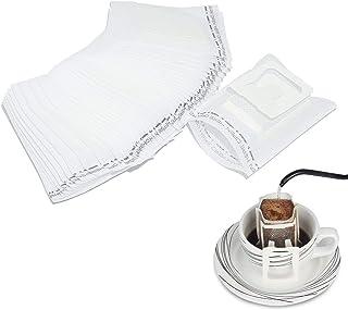 100 بسته قابل حمل یکبار مصرف یک غذای کوچک یکبار مصرف کیسه فیلتر قطره ای گوش یکبار مصرف ، کیسه فیلتر قهوه مناسب برای مسافرت ، کمپینگ ، خانه ، دفتر