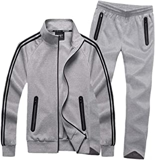 Men's Athletic Tracksuit Set Full Zip Casual Sports Jogging Gym Sweat Suits