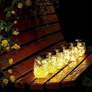 Solar Mason Jar Lámpara Mason Jar Luz Solar Con Tapa Insertar Para Decoración de Jardín y Home Deco Light. (Blanco Cálido ...