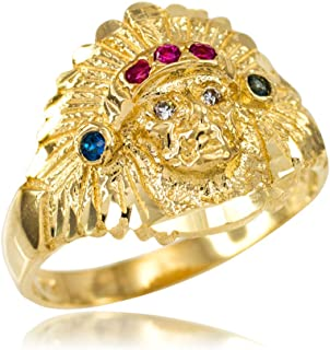10k indian head ring