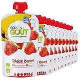 Purée de fruits pour bébés dès 4 mois Purée 100% BIO Ingrédients : 55% de bonnes fraises, 45% de bonnes bananes, une goutte de jus de citron, et rien d'autre ! Parce que la Good Gourde est aussi jolie que maline. Légère et pratique, elle est facile à...