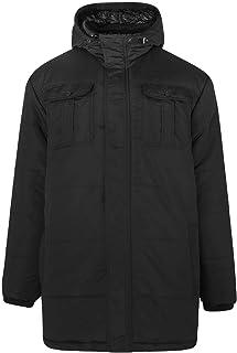Crosshatch Mens Beekham Plus Size Full Zip Parka Jacket Black