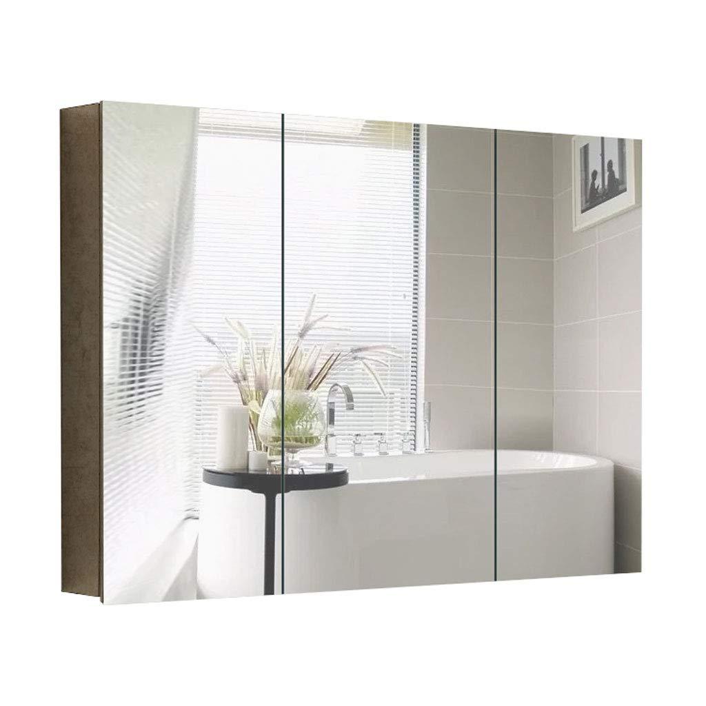 GXFC Armario de Espejo de baño de Acero Inoxidable, Mueble de Pared con Estante Doble, Gabinete de Almacenamiento para Ahorro de Espacio en Apartamentos/Casas: Amazon.es: Hogar