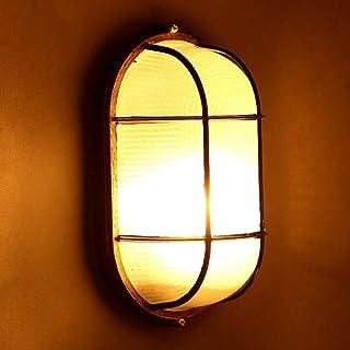 QTRT Lampada da Parete Creativa in Vetro di Ferro Vintage A 1 Luce Lampada da Comodino da Camera da Letto Industriale retr...