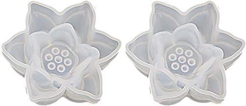 Liangwan Driedimensionale Lotus bloem siliconen mal voor doe-het-zelf sieraden opbergdoos