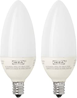 Ikea E12 LED Light Bulb (2 Pack) 200 Lumen 3 Watt Candle