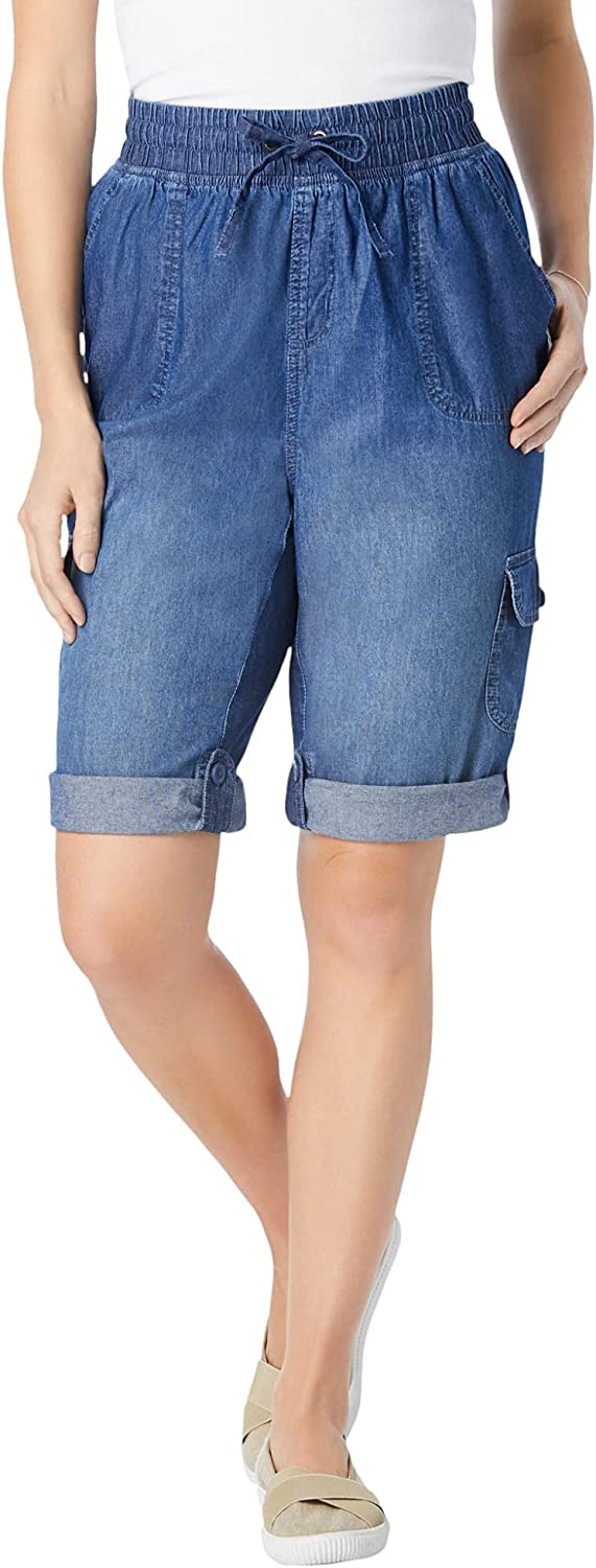 Woman Within Women's Plus Size Convertible Length Cargo Short