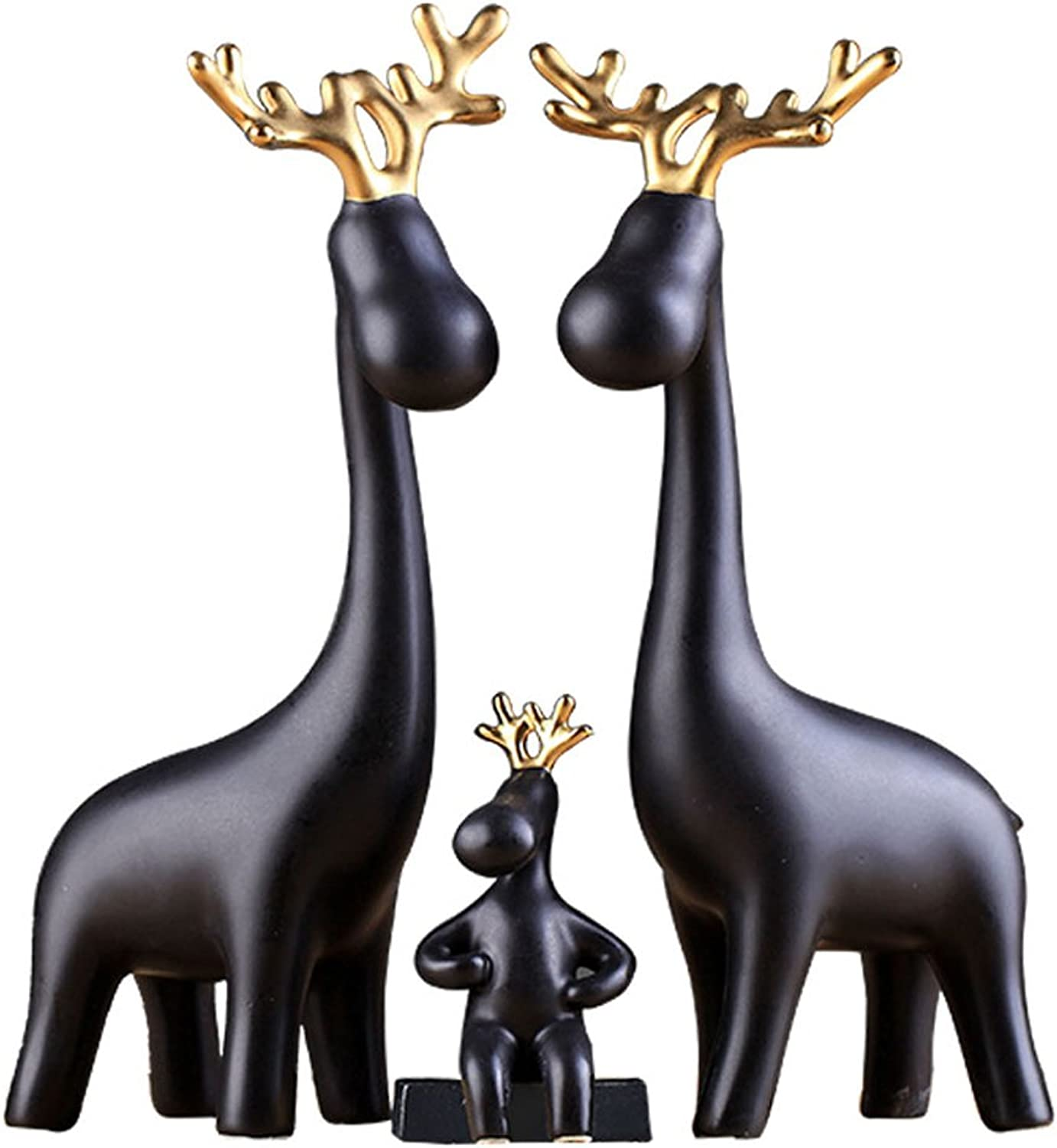 Simple ceramics Three-piece suit deer decorations Wine cabinet decorations indoor living room coffee table TV cabinet office desk Wedding Gifts