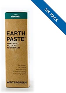 Product Name: REDMOND - Earthpaste All Natural Non-Fluoride Vegan Organic Non GMO Real Ingredients Toothpaste, Wintergreen, 4 Ounce Tube (6 Pack)