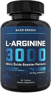 Maximum Strength L Arginine (3150mg) - Nitric Oxide Booster - L Arginine Supplement for Muscle Growth, Vascularity & Endur...