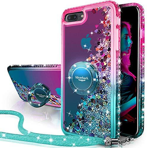 Miss Arts Funda iPhone 7 Plus,iPhone 8 Plus,[Silverback] Carcasa Brillante Purpurina con...
