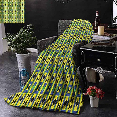 ZSUO Couch Blanket Travel the World Quote op een Faded Map of United Kingdom en een Plane Silhouette Microfiber deken bank of reizen