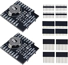 Aideepen 2pcs Micro SD Wemos D1 Mini Data Logger Shield with RTC DS1307 Clock for Arduino