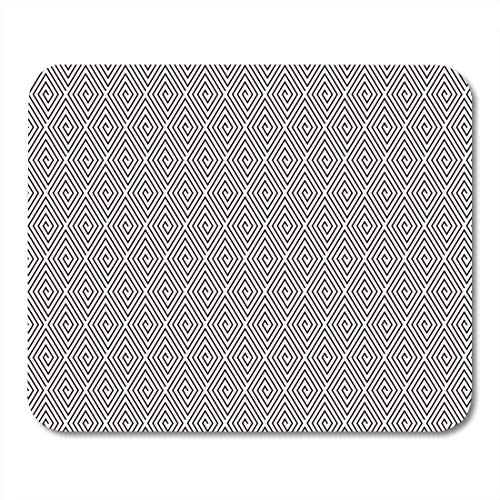 "AOHOT Mauspads Diamond Intricate Grill Pattern in B W Fine Geometric Simple Diagonal Mouse pad 9.5"" x 7.9\"" for Notebooks,Desktop Computers Accessories Mini Office Supplies Mouse Mats"
