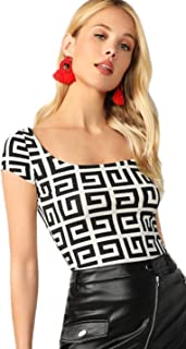 Best black and white geometric top Reviews