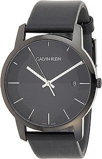 Calvin Klein Men's Quartz Watch, Analog Display and Leather Strap K2G2G4C1
